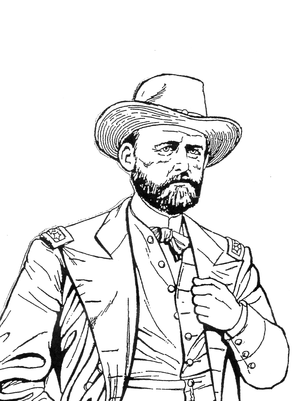 drawing of union general ulysses s grant